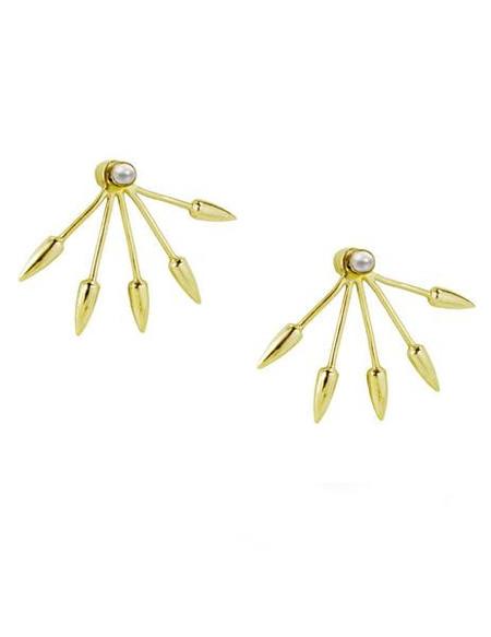 Pamela Love 5 Spike Earrings