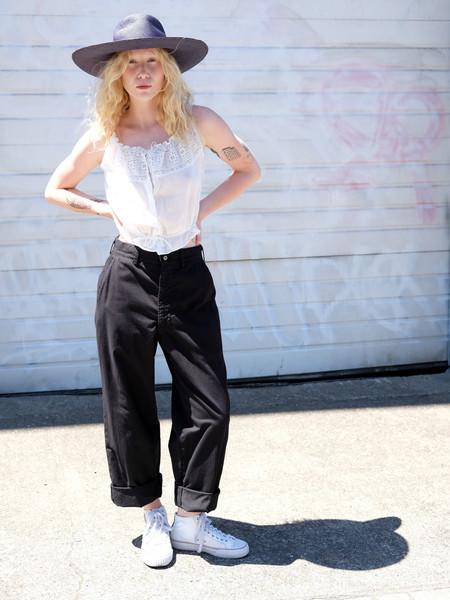 Shop Boswell VINTAGE BLACK HIGH WAIST PANTS