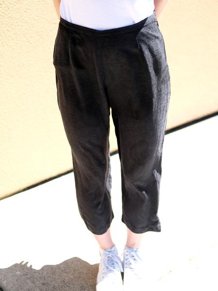 Shop Boswell Vintage BLACK SILK PANTS
