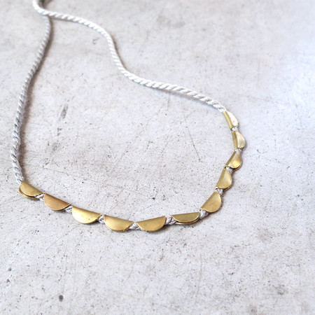 Takara Lunar Necklace in Grey