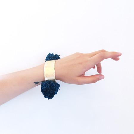 Takara Pom Pom Bracelet in Indigo