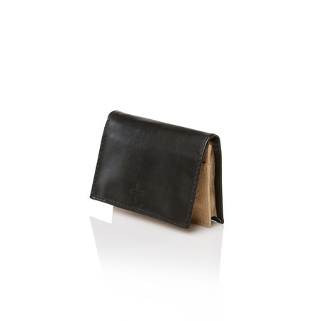 Marie Turnor Double Card Case - Black and Tan