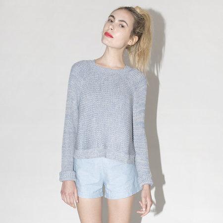 Ali Golden Melange Sweater - Blue