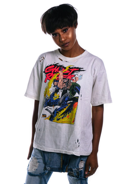 JE x Visione Visiońe Ghost Rider/Wolverine Tee - White