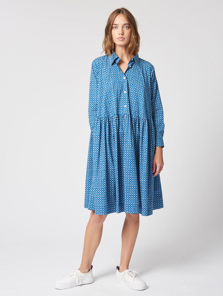 Peter Jensen Circle Print Smock Shirt Dress