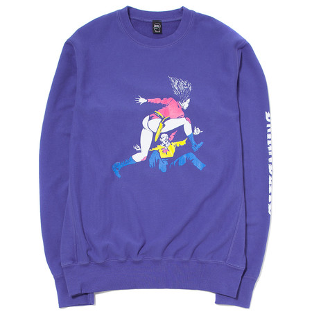 BRAIN DEAD REVENGER CREW NECK / BLUEBERRY