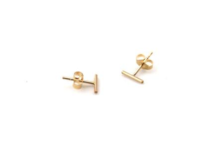 Isobell Designs Tiny Line Stud Earrings