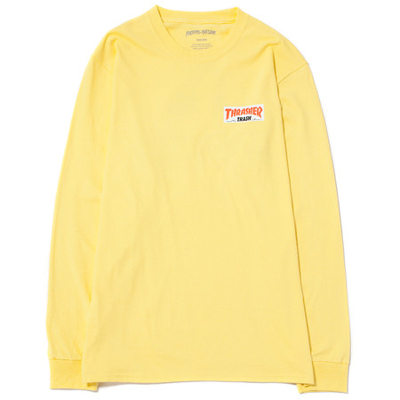 FUCKING AWESOME X THRASHER TRASH ME LONG SLEEVE T-SHIRT - YELLOW
