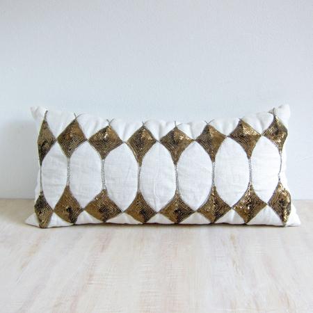 Day Birger Et Mikkelsen sequin harlequin lumbar cushion - white
