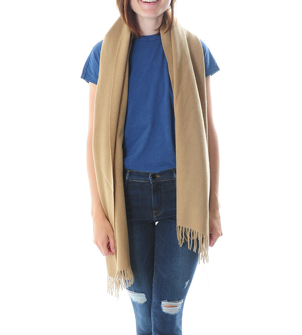 Won Hundred Tan Caden Wool Scarf