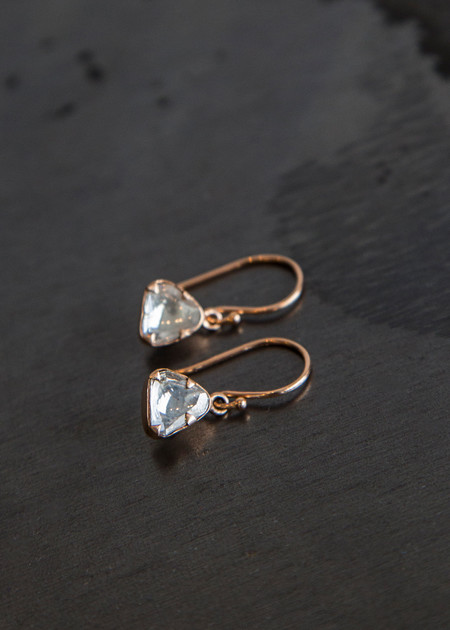 Sierra Winter Primrose Diamond Earrings - Rose Gold