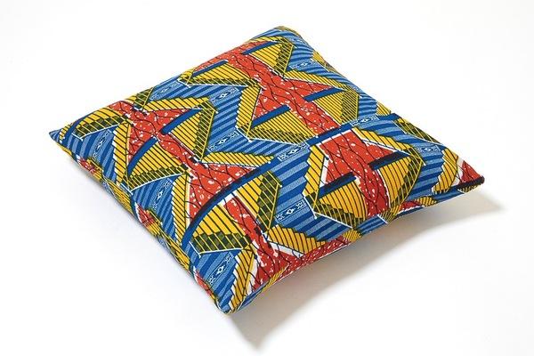 Osei-Duro Wax Print Pillow   Primary Stairs