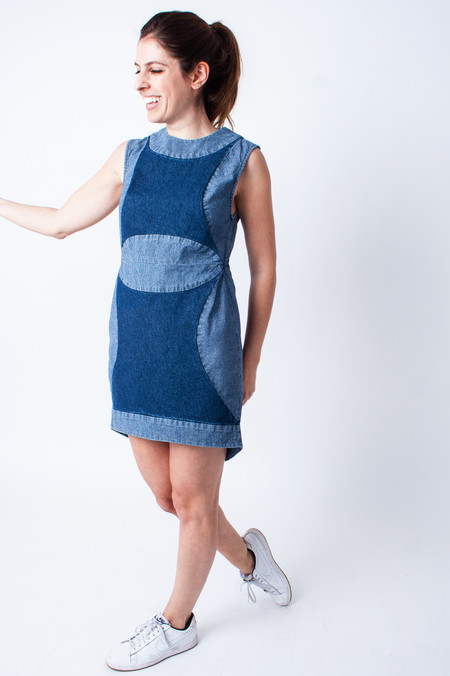 Carleen Denim Patchwork Dress