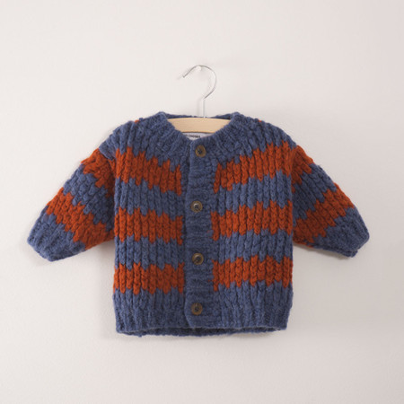 Kid's Bobo Choses Nautical Stripes Baby Cardigan