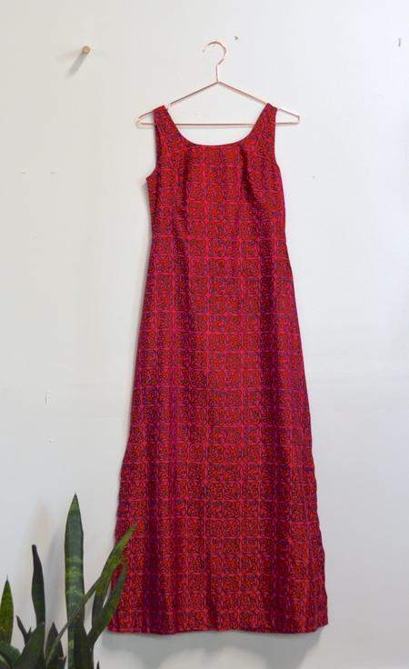 Mothers + Daughters Vintage Silk A Line Dress