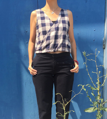 Esby Bamboo Poppy Top in Plaid