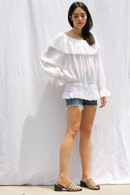 DUO NYC VINTAGE RUFFLE TOP