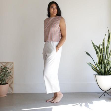Me and Arrow Wide Pants - Ivory Cotton