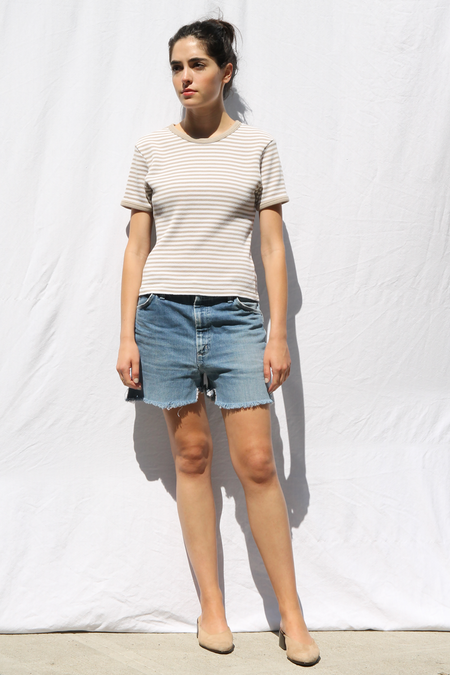 DUO NYC VINTAGE NEUTRAL STRIPE TEE