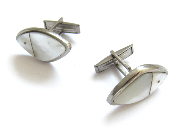 Vintage Collection Silver M.O.P Cuff Links
