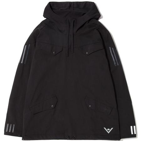 ADIDAS ORIGINALS BY WHITE MOUNTAINEERING PULLOVER JACKET - BLACK