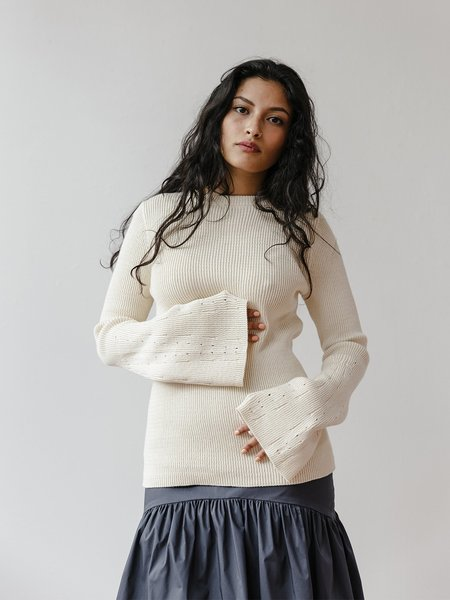 Pari Desai Flare Sleeve Sweater