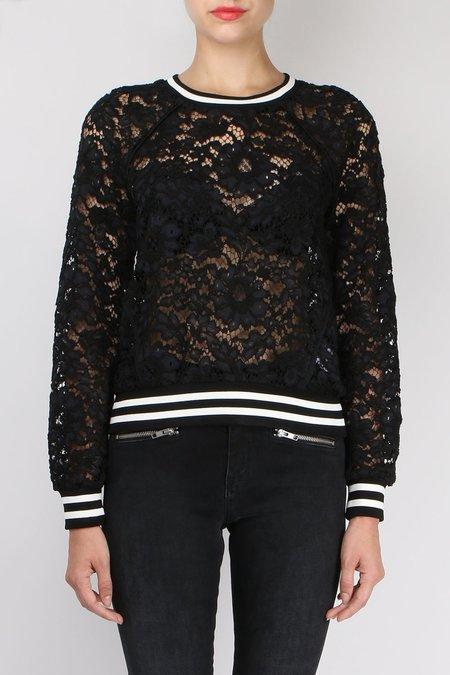 Veronica Beard Jet Lace Sweatshirt