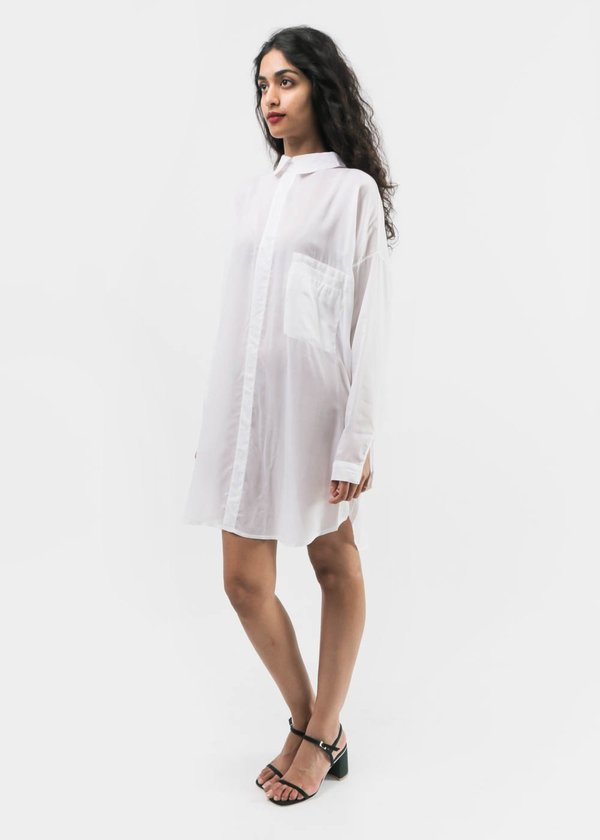 Suzanne Rae - Oversized Button Back Collared Shirt