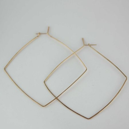AOKO SU Oversized Box Hoops in 14k Goldfill