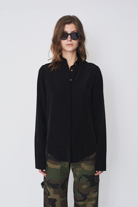Assembly New York Silk Non-Collar Blouse