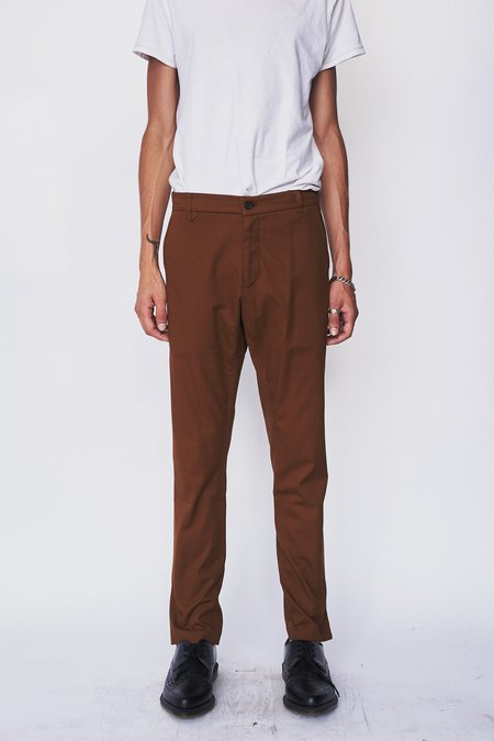 Assembly New York Twill Straight Skinny Trouser - Olive