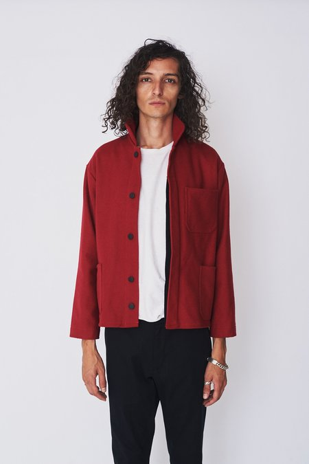 Assembly New York Wool French Workwear Coat - Red