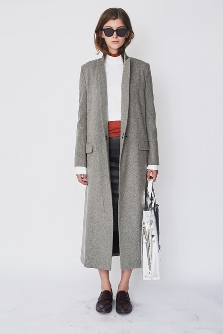 Assembly New York Wool Long Coat - Grey