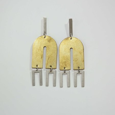 Natalie Joy Arc + Line Earrings