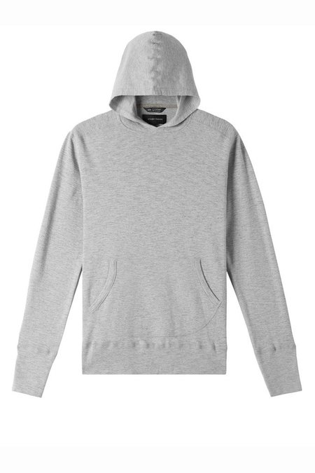 Wings + Horns 1 x 1 Slub Hooded Pullover - Grey