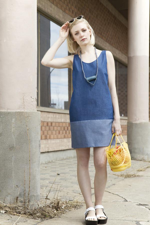 Amanda Moss Benny Dress Blue Denim