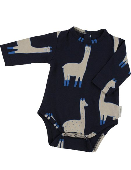 Kid's Tiny Cottons LLAMA PRINT LONG SLEEVE BODY - NAVY