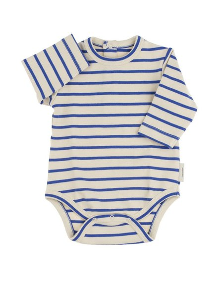 KID'S Tiny Cottons STRIPED LONG SLEEVE BODY (BLUE)