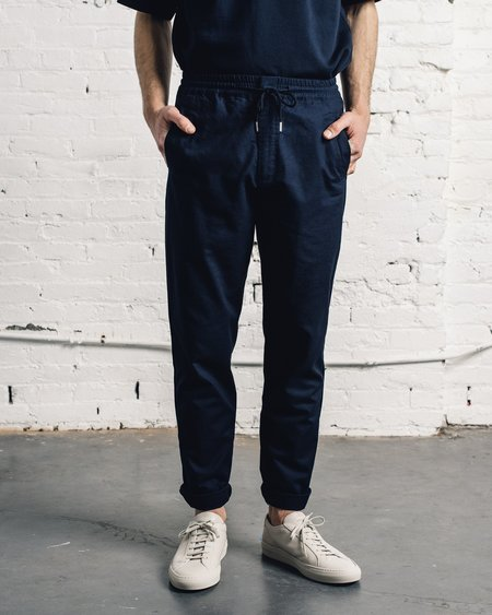 Folk Drawcord Trouser - Airy Navy