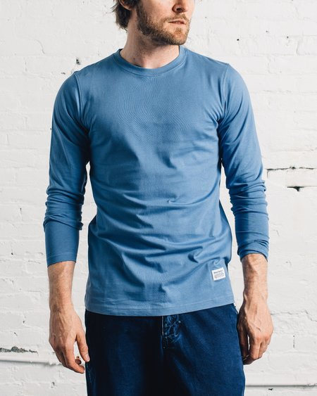 Norse Projects Niels Basic Long Sleeve T-Shirt - Marginal Blue