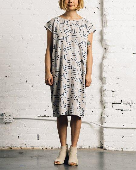 Seek Collective Caroline Shift Dress, Silver Fragments
