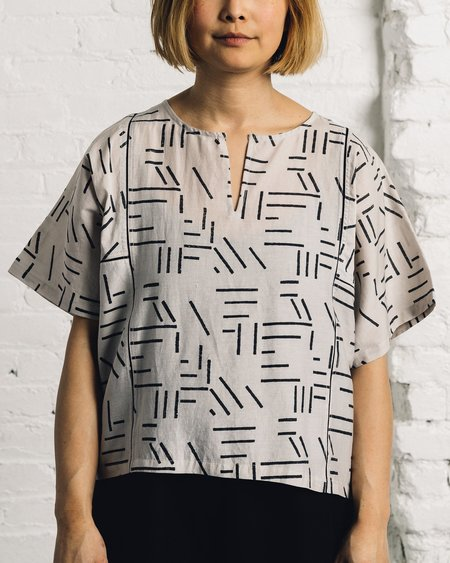 Seek Collective Yuko Top, Silver Fragments