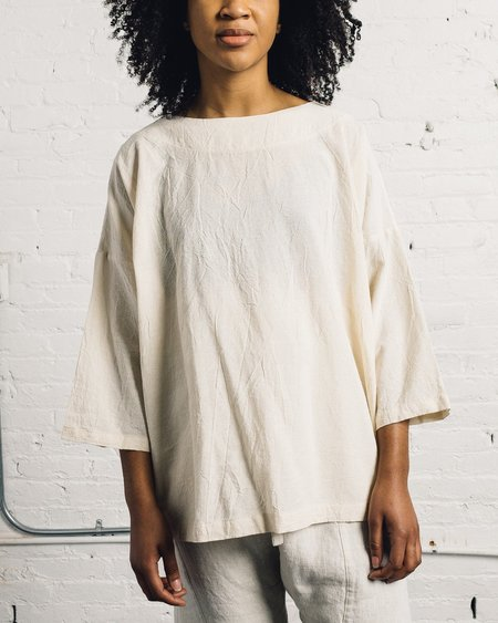 Uzi NYC Uzi Coarse Cotton Button Kimono