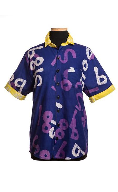 Studio One Eighty Nine Cotton Button Down Shirt - Violet Random S189 Print
