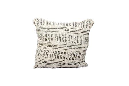 Studio One Eighty Nine White Printed Bogolan Pillow