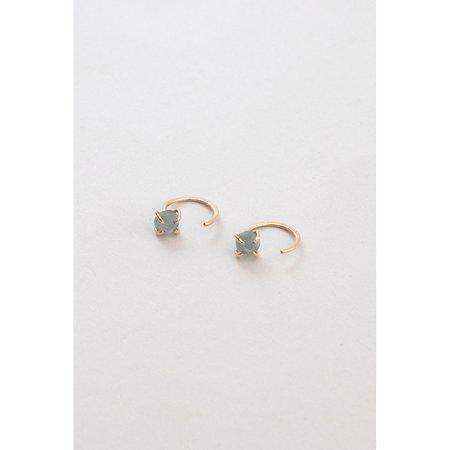 Melissa Joy Manning Aquamarine Hugger Earrings