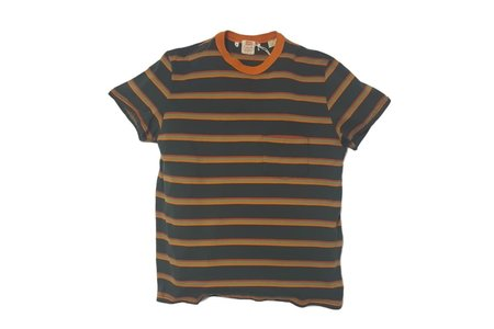 Men's Levi's Vintage Clothing LVC 1960's Casuals Stripe La Plata Green