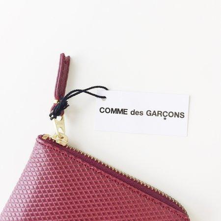 Comme des Garçons Luxury Group Small Burgundy Half Zip Around Wallet