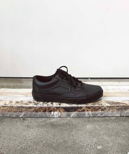 VANS Embossed Leather Old Skool Sneakers - Black