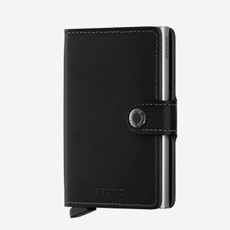 SECRID Mini Wallet - Black Leather
